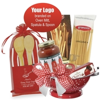 Italian Theme Basket with Branded Accessories