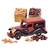 1930-Era Delivery Van with Chocolate Almonds & Jumbo Cashews