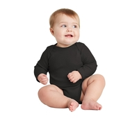 Rabbit Skins Infant Long Sleeve Baby Rib Bodysuit.