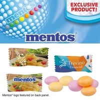 Individually Wrapped Assorted Fruit Mentos Pillow Mints