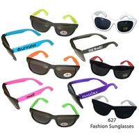 Fashion Sunglasses With Neon Temples - E627