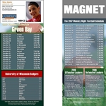 Green Bay Football Schedule Magnet