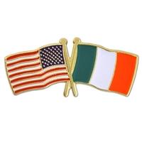 World Flag - USA & Ireland Flag Pin