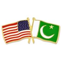 World Flag - USA & Pakistan Flag Pin