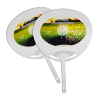 Quick Ship Plastic Hand Fan w/Full Color Digital Label
