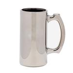 Sprayed and metallized sports mug