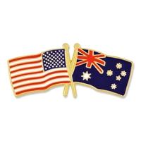 USA / Australia- Friendship Flag Lapel Pin