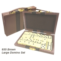 28 Piece Double Six Domino Set & Attache Case - E935