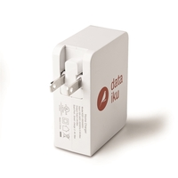 UL listed four port 4.9A smart IC wall charging adapter