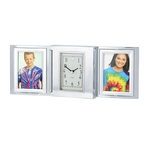 Folding Alarm Clock with Two Photo Frames