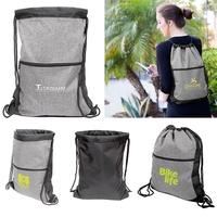 Two-Tone Drawstring Bag