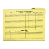 File folder with third tab position