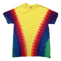 Tie-Dye Adult Rainbow Pattern Tie-Dyed Tee