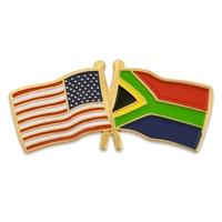 USA & South Africa Flag Pin