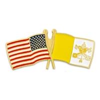 USA & Vatican City Flag Pin