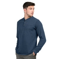 Heath Mini-Stripe Long Sleeve Henley