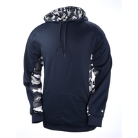 Adult Camo Colorblock Hooded Fleece