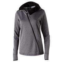 Ladies' Polyester Fleece Full Zip Hooded Artillery Angled...