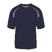 Adult Short-Sleeve Performance Tee with Heather Shoulder ...