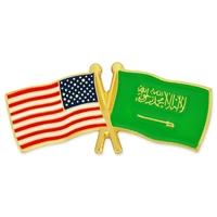 World Flag - USA & Saudi Arabia Flag Pin