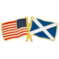USA & Scotland Flag Pin