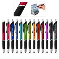 Click Action Plastic Ballpoin Stylus Pen