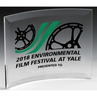 "Freestanding Curved Acrylic Award - 7"" x 10"""