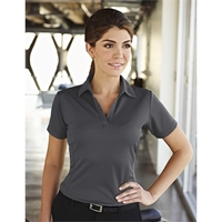 Saratoga Women's Mini-Grid Johnny Collar Polo