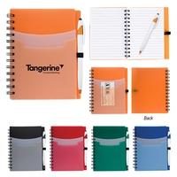 "5"" x 7"" Tri-Pocket Notebook & Pen"