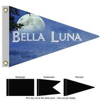 """16"""" x 24"""" Single Reverse Knitted Polyester Boat Flag"""