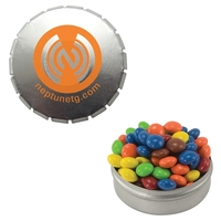 Round Snap Top Tin with Mints, Candy, Gum, or Chocolate