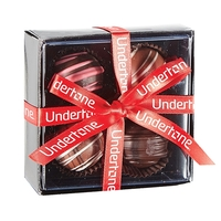 4 Piece Decadent Truffle Box with Ribbon