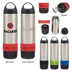 11 Oz. Stainless Steel Rumble Speaker Bottle With Custom...