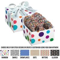 Chocolate Pretzel Gift Box - Rainbow Nonpareil Sprinkles
