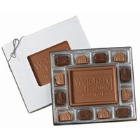 Small Custom Chocolate Delights Gift Box w/ Themed Chocolate