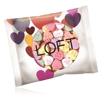 2oz. Full Color DigiBag with Imprinted Conversation Hearts