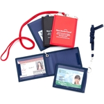 Neck Wallet / Security ID Carrier with Lanyard