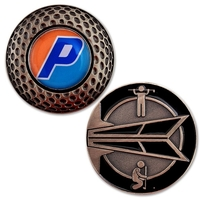 Golf Coin with Custom Ball Marker