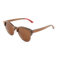 Layered Maple Wood Sunglasses - Brown Frames