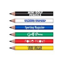 Mini Round Golf Pencils Pre Sharpened