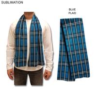 Sublimated or Blank Fleece Plaid Scarf, 9x60