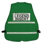 Dark green incident command vest (regular and jumbo)