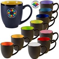 16oz Two-Tone Satin Hilo Bistro Mug, spot color
