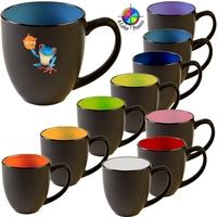 16oz Two-Tone Satin Hilo Bistro Mug, four color