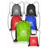 "17.7"" H x 14.75"" W Mesh Accent Drawstring Backpacks"