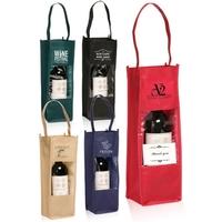 Non-Woven Wine Bottle Carrier Gift Bag