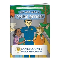 Coloring Book: My Visit with a Police Officer