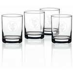 Set of 4 Double Old-Fashioned Glasses - 14 oz.