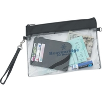 Clear Game 2-in-1 Wristlet