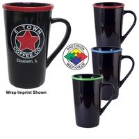 16oz Black Horizon Cafe Latte Mug with Halo, spot color